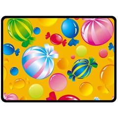 Sweets And Sugar Candies Vector  Double Sided Fleece Blanket (large)