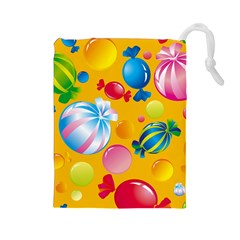 Sweets And Sugar Candies Vector  Drawstring Pouches (large)  by BangZart