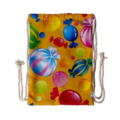 Sweets And Sugar Candies Vector  Drawstring Bag (small) by BangZart