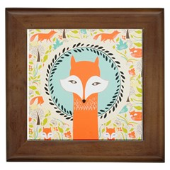 Foxy Fox Canvas Art Print Traditional Framed Tiles by BangZart