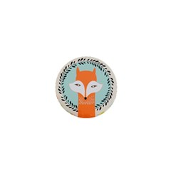 Foxy Fox Canvas Art Print Traditional 1  Mini Buttons