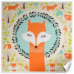 Foxy Fox Canvas Art Print Traditional Canvas 20  X 20