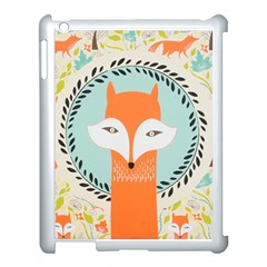 Foxy Fox Canvas Art Print Traditional Apple Ipad 3/4 Case (white)