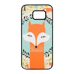 Foxy Fox Canvas Art Print Traditional Samsung Galaxy S7 Edge Black Seamless Case by BangZart