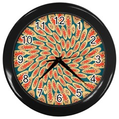 Stars Twirl Wall Clocks (black) by linceazul