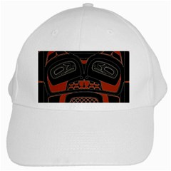 Traditional Northwest Coast Native Art White Cap by BangZart