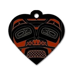 Traditional Northwest Coast Native Art Dog Tag Heart (two Sides)