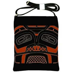 Traditional Northwest Coast Native Art Shoulder Sling Bags by BangZart