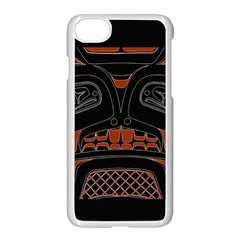 Traditional Northwest Coast Native Art Apple Iphone 7 Seamless Case (white)