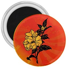 Vector Asian Flowers 3  Magnets by BangZart