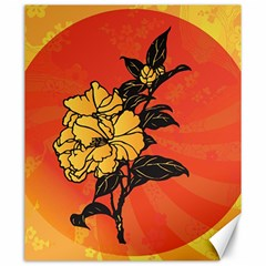 Vector Asian Flowers Canvas 20  X 24   by BangZart