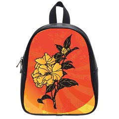 Vector Asian Flowers School Bags (small)