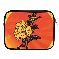 Vector Asian Flowers Apple Ipad 2/3/4 Zipper Cases