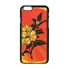 Vector Asian Flowers Apple Iphone 6/6s Black Enamel Case by BangZart