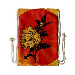 Vector Asian Flowers Drawstring Bag (small)