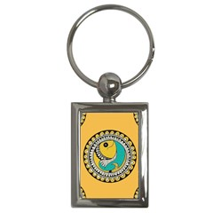 Madhubani Fish Indian Ethnic Pattern Key Chains (rectangle)
