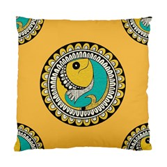 Madhubani Fish Indian Ethnic Pattern Standard Cushion Case (one Side)