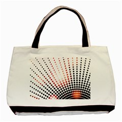 Radial Dotted Lights Basic Tote Bag by BangZart