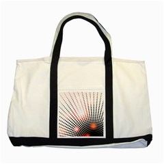 Radial Dotted Lights Two Tone Tote Bag by BangZart