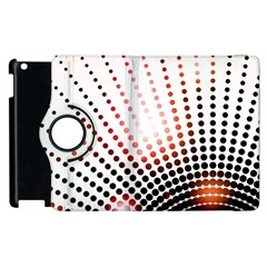 Radial Dotted Lights Apple Ipad 2 Flip 360 Case by BangZart