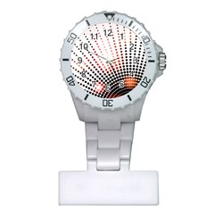 Radial Dotted Lights Plastic Nurses Watch by BangZart