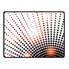 Radial Dotted Lights Double Sided Fleece Blanket (small)