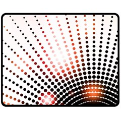 Radial Dotted Lights Double Sided Fleece Blanket (medium)  by BangZart