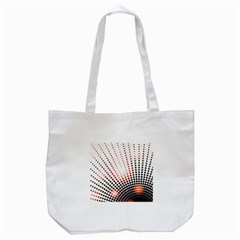 Radial Dotted Lights Tote Bag (white) by BangZart