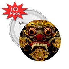 Bali Mask 2 25  Buttons (100 Pack)