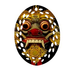 Bali Mask Oval Filigree Ornament (two Sides) by BangZart