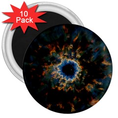 Crazy  Giant Galaxy Nebula 3  Magnets (10 Pack)  by BangZart
