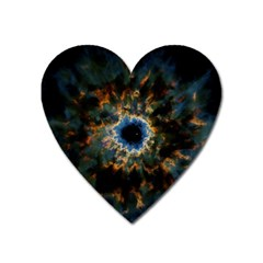 Crazy  Giant Galaxy Nebula Heart Magnet by BangZart