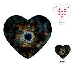 Crazy  Giant Galaxy Nebula Playing Cards (heart)