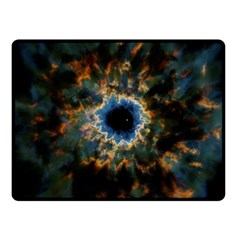 Crazy  Giant Galaxy Nebula Fleece Blanket (small)