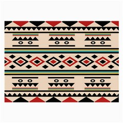Tribal Pattern Large Glasses Cloth