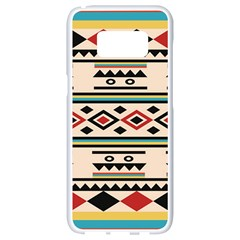 Tribal Pattern Samsung Galaxy S8 White Seamless Case