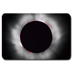 Solar Eclipse Large Doormat  by BangZart