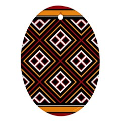 Toraja Pattern Pa re po  Sanguba ( Dancing Alone ) Oval Ornament (two Sides) by BangZart