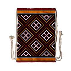 Toraja Pattern Pa re po  Sanguba ( Dancing Alone ) Drawstring Bag (small) by BangZart