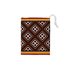 Toraja Pattern Pa re po  Sanguba ( Dancing Alone ) Drawstring Pouches (xs)