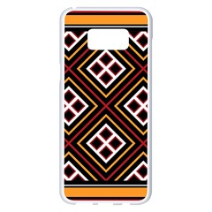 Toraja Pattern Pa re po  Sanguba ( Dancing Alone ) Samsung Galaxy S8 Plus White Seamless Case