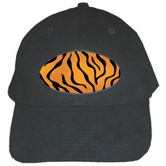Tiger Skin Pattern Black Cap