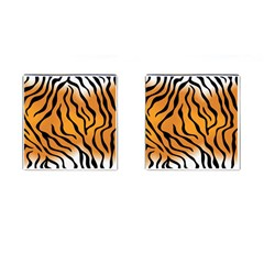 Tiger Skin Pattern Cufflinks (square) by BangZart