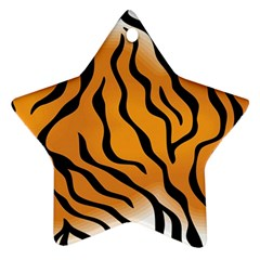 Tiger Skin Pattern Star Ornament (two Sides)
