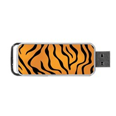 Tiger Skin Pattern Portable Usb Flash (one Side) by BangZart