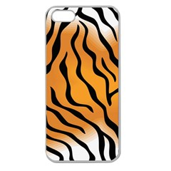 Tiger Skin Pattern Apple Seamless Iphone 5 Case (clear)