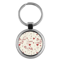 Pattern Hearts Kiss Love Lips Art Vector Key Chains (round)