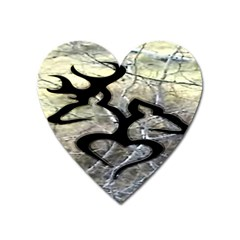 Black Love Browning Deer Camo Heart Magnet by BangZart