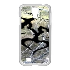 Black Love Browning Deer Camo Samsung Galaxy S4 I9500/ I9505 Case (white)