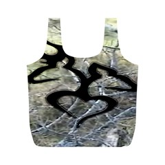 Black Love Browning Deer Camo Full Print Recycle Bags (m)